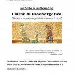Classe di bioenergetica - Sabato 6 settembre 2014